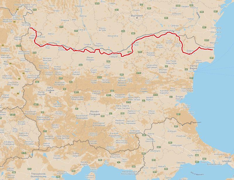 route map dunav ultra 682 km